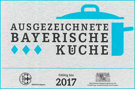 Ausgezeichnete Bayerische Küche Höchstbewertung 3 Rauten
